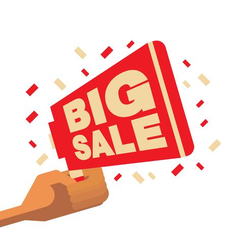 Big sales symbol for poster. vector illustration flat design art