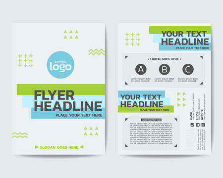 Business minimal Theme Poster Brochure Flyer design Layout vector template in A4 size design Çizim