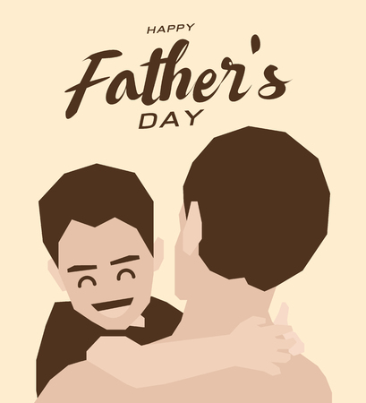 Happy fathers day greeting card,Brown tone design art Çizim