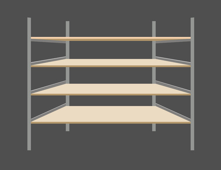 buttery: Empty shelves. Vector illustration