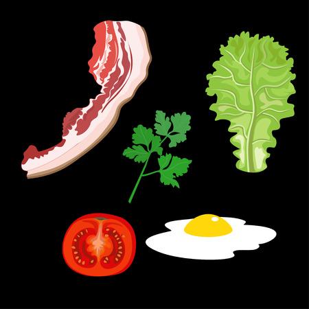 Breakfast design set. Vector illustration Illustration