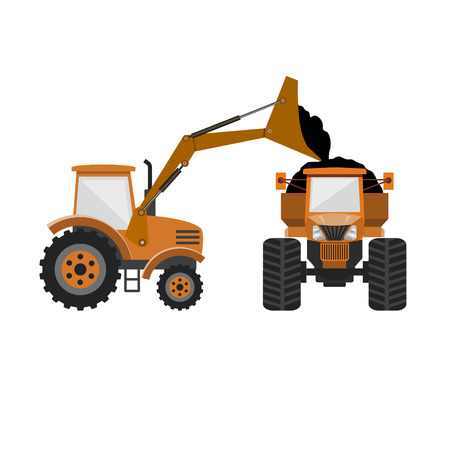 Vector wheel loader and tractor