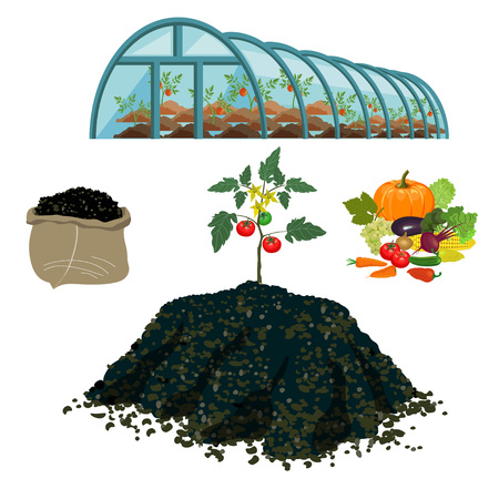 Set of vector illustration for farming