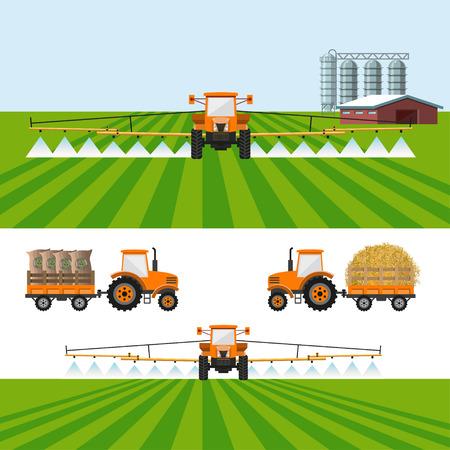 Conjunto de ilustraciones vectoriales para infografía agrícola