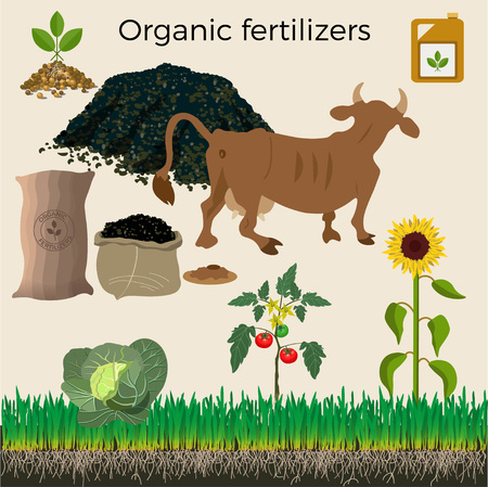 manure: Set of vector illustration for agriculture and farming Illustration