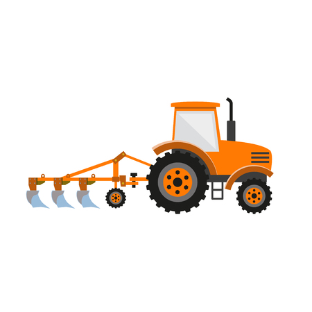 Vector tractor with plow