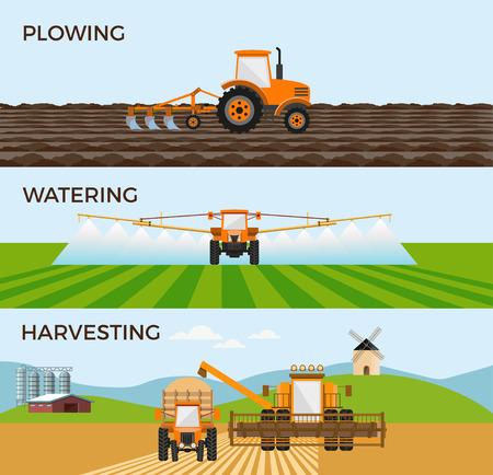 농업 및 농업에 대 한 벡터 일러스트입니다. 인포 그래픽