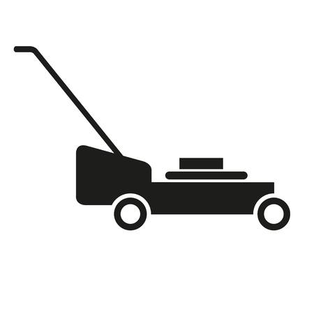 grass blades: Lawn mower, roller, grass-cutter vector Illustration