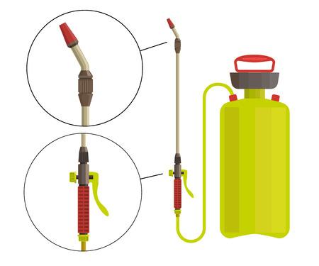 fungicide: Garden sprayer vector illustration Illustration