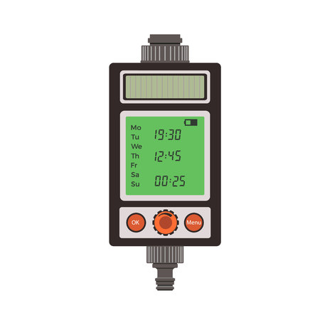 spattering: Water timer. Vector illustration