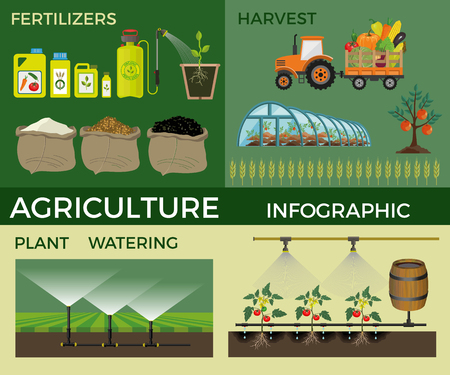 Vector illustrations for agricultural and fertilizer. Infographic Illustration