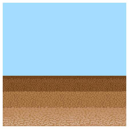 Ground cutaway vector 向量圖像