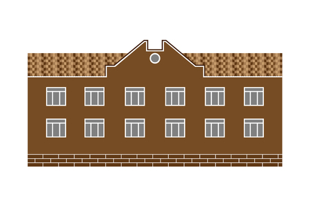 civil construction: Civil vector building in flat style