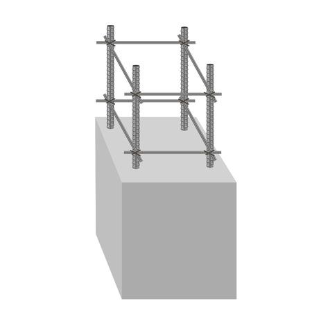 footing: Reinforced concrete foundation. Vector illustration Illustration
