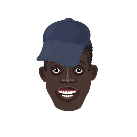 kinky: Vector black mans head in the cap