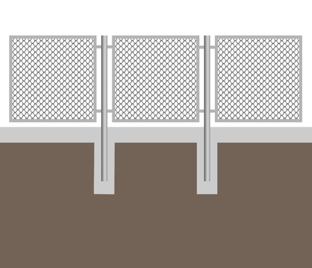 A chain-link fence, vector Illustration
