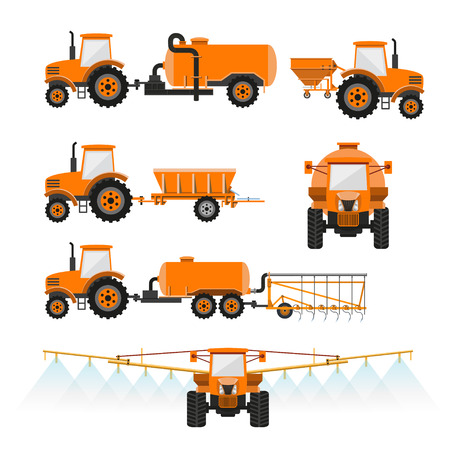 벡터 농업 기계 세트
