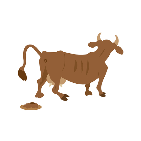 muck: Cow cartoon Illustration