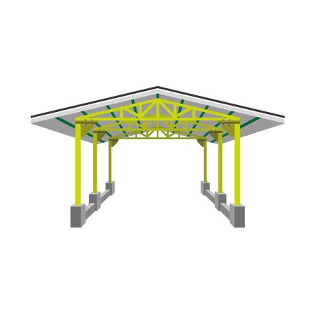 Pabellón industrial, ilustración vectorial Foto de archivo - 72984579