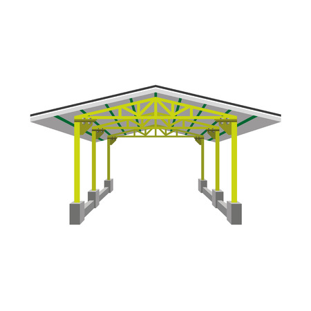 Industrial canopy, vector illustration