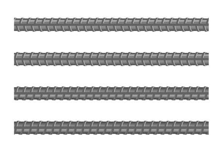 Seamless steel rebars, vector illustration Ilustrace