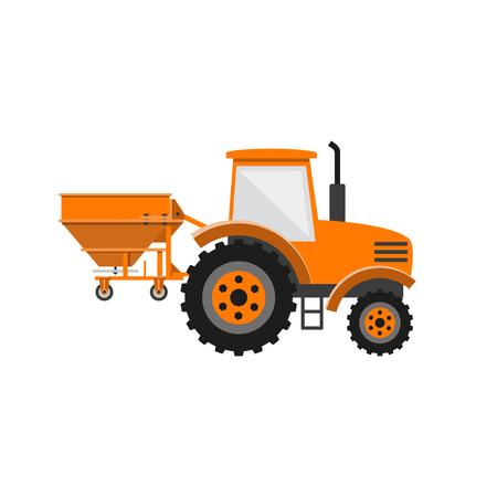 Vector fertilizer spreader Illustration