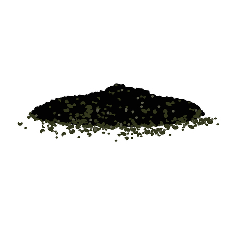 Pile of ground, vector illustration