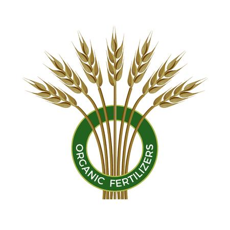Vector label for organic fertilizers