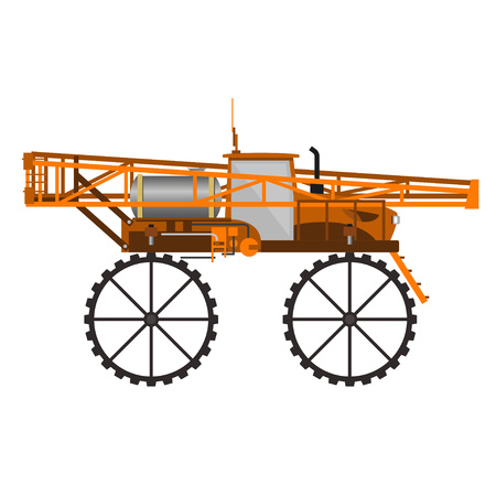 Self-propelled sprayer. Vector illustration