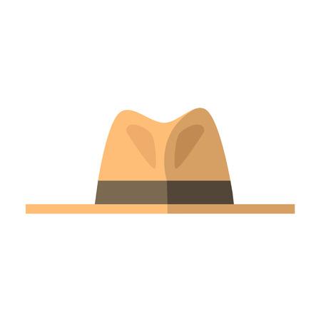 Men hat with brown ribbon. Vector illustration Illustration