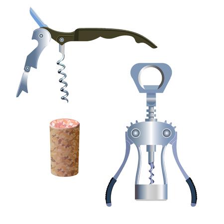 Set of vector corkscrews whih cork