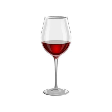 burgundy: Red wine glass isolated on white background