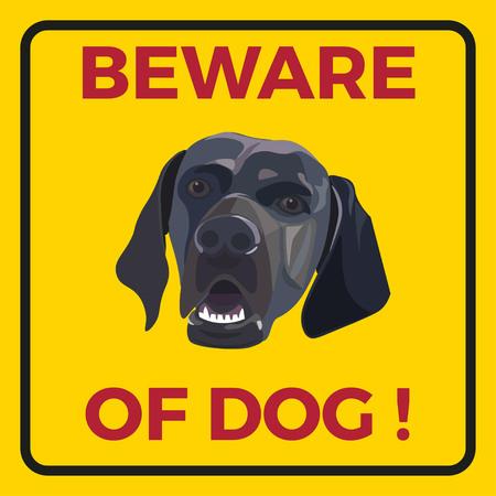 beware: Beware of dog sign. Vector illustration Illustration
