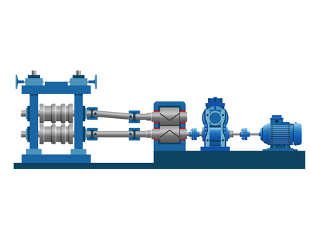 Equipment of the rolling mill vector illustration isolated on white background.