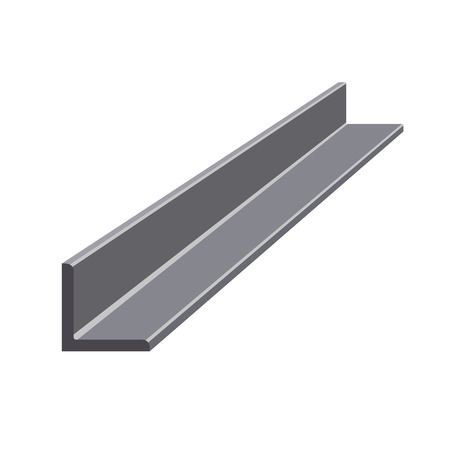 Rolled steel angle. Vector illustration isolated on white background