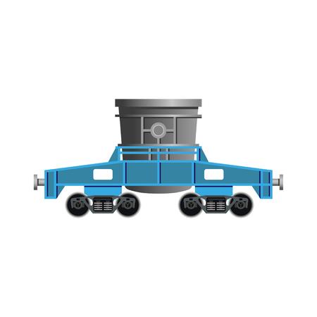 Teeming ladle car icon Illustration