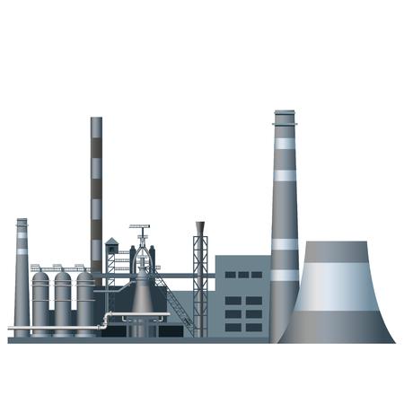 Heavy industry factory Stock Illustratie