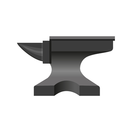 Blacksmith anvil. Vector illustration isolated on white background