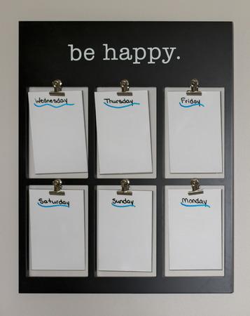 Be Happy Calendar Фото со стока - 85233790