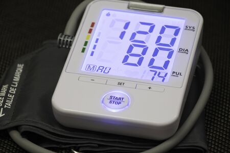 A Digital Blood Pressure Monitor Displaying Optimal Results