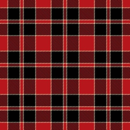 Red, Black  and  Camel Beige  Tartan Plaid Scottish Seamless Pattern. Texture from tartan, plaid, tablecloths, shirts, clothes, dresses, bedding, blankets and other textile.