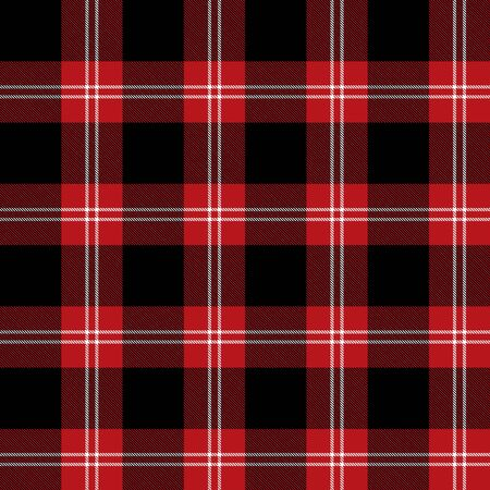 Red,  White and  Black  Tartan Plaid Scottish Seamless Pattern. Texture from tartan, plaid, tablecloths, shirts, clothes, dresses, bedding, blankets and other textile.