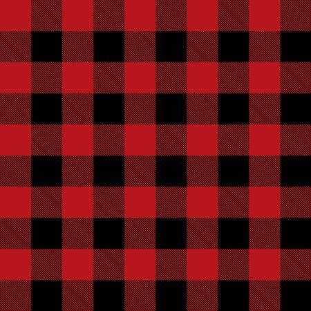 Roter und schwarzer Tartan kariertes schottisches nahtloses Muster. Textur aus Tartan, Plaid, Tischdecken, Hemden, Kleidung, Kleidern, Bettwäsche, Decken und anderen Textilien.