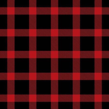 Patrón sin costuras escocés de cuadros escoceses de tartán rojo y negro. Textura de tartán, cuadros escoceses, manteles, camisas, ropa, vestidos, ropa de cama, mantas y otros textiles.