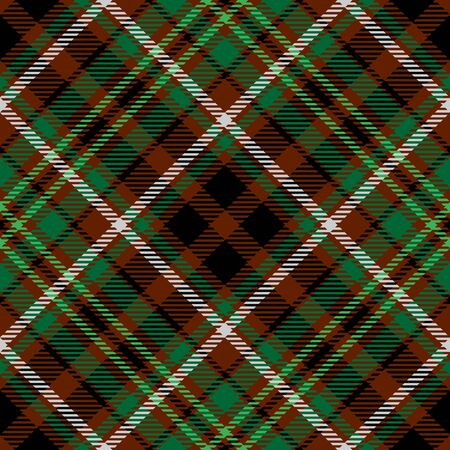 Brown Green Tartan Plaid Scottish Seamless Pattern. Texture from tartan, plaid, tablecloths, shirts, clothes, dresses, bedding, blankets and other textile