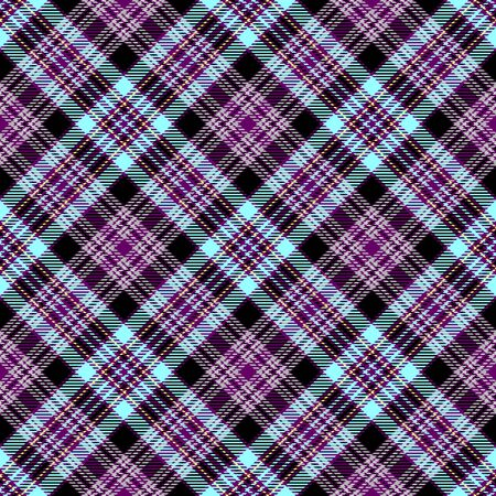 Purple and Blue Tartan Plaid Scottish Seamless Pattern. Texture from tartan, plaid, tablecloths, shirts, clothes, dresses, bedding, blankets and other textile.
