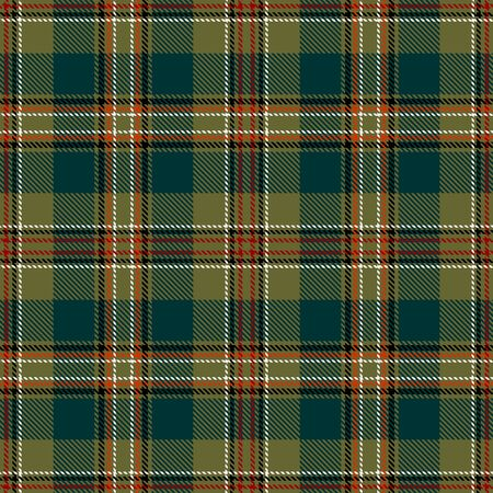 Green Tartan Plaid Scottish Seamless Pattern. Texture from tartan, plaid, tablecloths, shirts, clothes, dresses, bedding, blankets and other textile. 일러스트