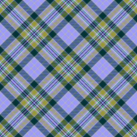 Purple and Green Tartan Plaid Scottish Seamless Pattern. Texture from tartan, plaid, tablecloths, shirts, clothes, dresses, bedding, blankets and other textile. 일러스트