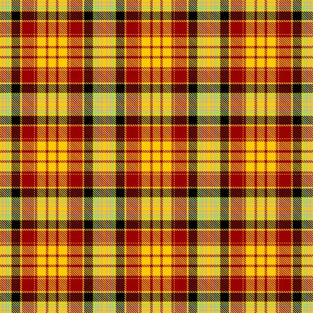 Yellow and Red Tartan Plaid Scottish Seamless Pattern. Texture from tartan, plaid, tablecloths, shirts, clothes, dresses, bedding, blankets and other textile.