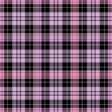 Pink and Black Tartan Plaid Scottish Seamless Pattern. Texture from tartan, plaid, tablecloths, shirts, clothes, dresses, bedding, blankets and other textile.